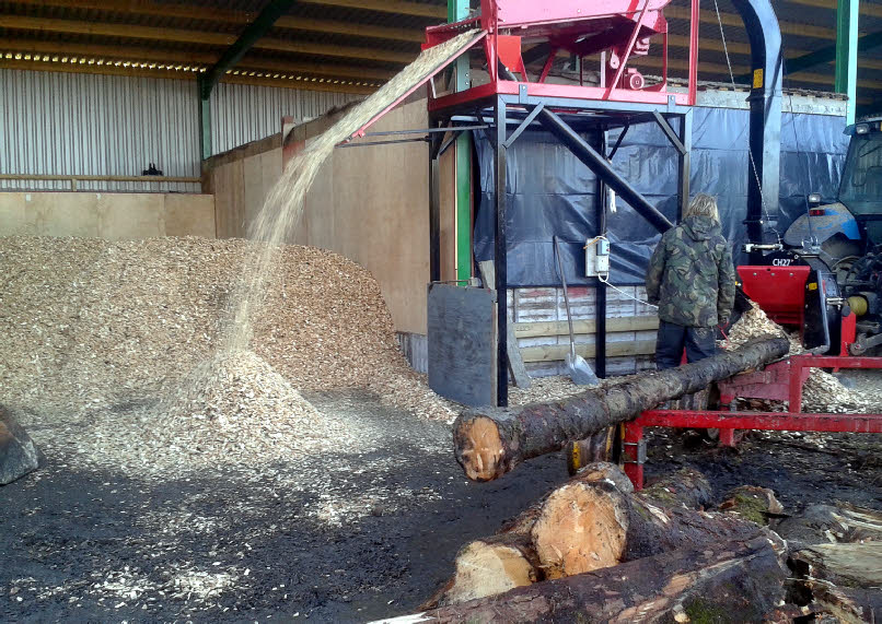 The Picture To Left Shows Our Wood Chipper Chip Screen And Two Perforated Floor Drying Kilns